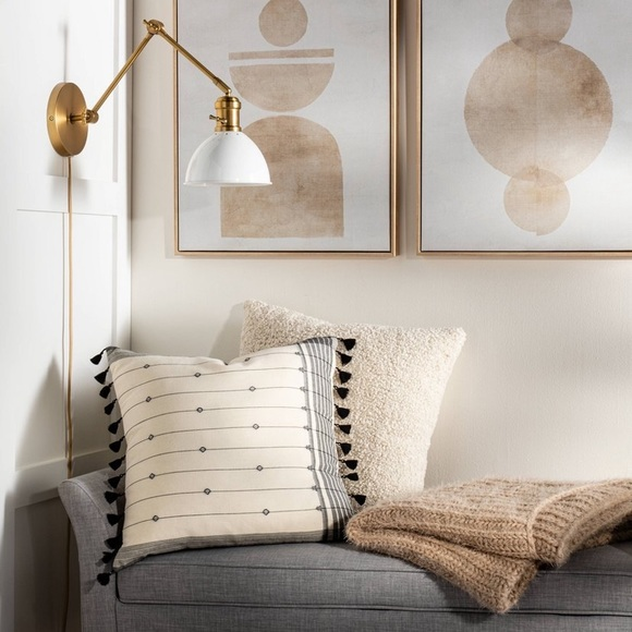 Gold / white wall scone light